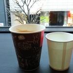 Paper Back Cafe - ホットのソイラテSサイズ340円