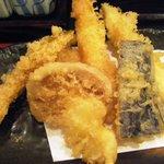 かる鴨 - 天ぷら。アップ。