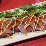 個室の美味 桜の藩 - コースのローストビーフ