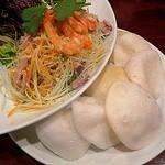 フォー ベト レストラン - Dinner Aコース(青パパイヤのサラダ)