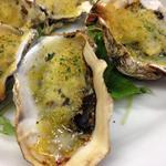プランツァーレ - 牡蠣のオーブン焼き。白ワインと良く合います!