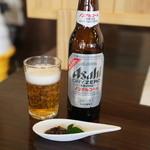 俵山湧水そば - ノンアルコールビールでも蕎麦味噌が。
