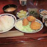食堂エンドウ - おかずいっぱい定食(マグロカツ選択)
