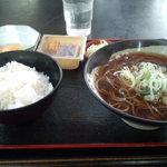 せんねんそば - 納豆ごはんセット+生卵(350円)