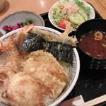 銀座 ハゲ天 - 大エビ天丼 1470円
