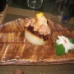 酒膳 虎屋 - 荏胡麻豚載せ大根の味噌田楽