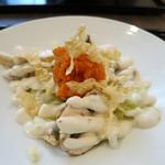 つむぎや - 白菜とキノコのサラダ 豆乳を使ったマヨネーズと人参のドレッシング