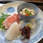 つむぎや - 銚子の金目鯛 青森の平目 北海道の真鱈白子