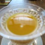 つむぎや - 安納芋の冷たいお汁粉