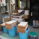 西河製菓店 - 2013, Dec 搗きたての餅が並んでます〜