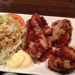 北新地 鳥屋 - 日替わり定食の鶏の唐揚げ