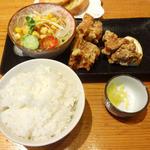 23368636 - 鶏唐揚定食(拉麺に付属可能メニュー)