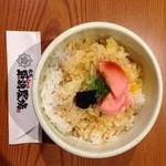 龍馬 軍鶏農場 京都駅前店 - シメに食べた卵かけ御飯、絶品でした☆