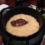 三界 - フォアグラ炊き込みご飯。これだけ洋風メニューで気になりますが、食べてみると、なるほど!