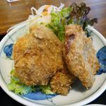 23371198 - 豚の角煮とひれかつ膳(1,780円)ひれかつ。