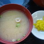 23371448 - 味噌汁、沢庵