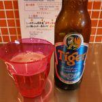 新加坡蝦麺 - タイガービール(450円)