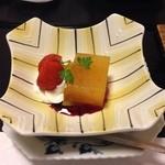 かんすい苑 覚楽 - 夕食(柿ゼリー)