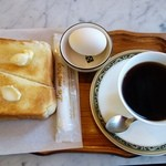 ルフラン - トースト・ゆで卵・ドリンクセット500円