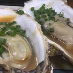 大統領 - 初冬限定、牡蠣の浜焼。早い時間に売り切れちゃいます。