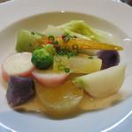 ヴァンダンジュ - 佐久、池田さんが作った野菜のサラダ