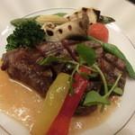 懐仙 - アワビが食べれない人は肉料理に変更