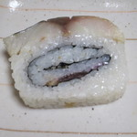 花押 - サバの押し寿司のアップ