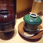 23394332 - 七福にぎりのお椀、茶碗蒸し