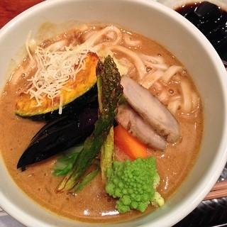 古奈屋 巣鴨本店 - 旬野菜カレーうどん(¥1,280)12/31/2013