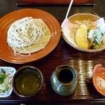 23395458 - 季節野菜の天ざる(2200円)