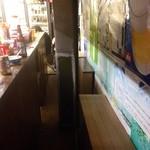 飯田酒店 - 椅子は、ビールケースに「On the long board」イケテル !