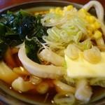 大木うどん店 - (2013/11月)「バターうどん 細うどん」(700円)