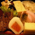 東海亭 - 肉、玉子、かぼちゃなど