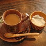 座食Bar欒 なにがし - コーヒーと杏仁豆腐