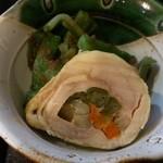 四季彩 - 「穴子重」(1,575円)の小鉢