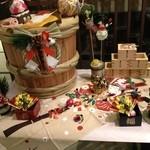 お宿 木の葉 - お食事処の入口☆お正月飾り