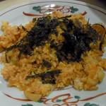 韓国家庭料理 ヘチョン - キムチ炒飯黒蜜きなこアイス