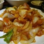 帝里加 - (2013/11月)「酢豚定食」の酢豚アップ写真