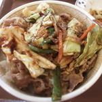 すき家 - 味噌野菜牛丼。