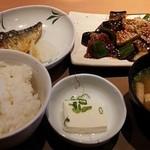 やよい軒 - 茄子味噌と焼き魚定食