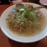 麺屋 花蔵 - 鶏ごぼうラーメン:ごぼうの香りがすがすがしい?