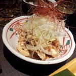 酉や喜兵衛 - 鶏皮ポン酢