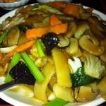 紅四季 - 揚げ豆腐と五目野菜あんかけランチ