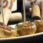 スペインバルエルソル - 新登場!マッシュルームと生ハムのオーブン焼き