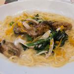 ジョナサン - 広島産牡蠣とからすみ風味のクリームスパゲッティ
