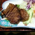 銀ちろ本店 - 殿様定食(牛ロース山椒焼)