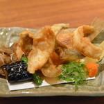 日本料理 瀬戸内 - 鰈唐揚げ・茄子