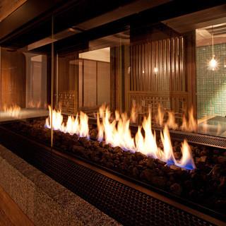暖炉のあるオシャレな全席個室♪32名様までOK