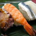 三島屋寿司 - 1,200円ランチの一部(2009/8月)