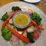 23440397 - バーニャカウダ蟹味噌だれ 野菜に熱入れしてあります。
